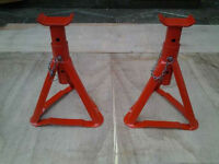 Axle Stands(2). British Standard.Safe Working Load 1500kg Each Stand.