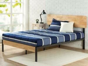 Zinus Tuscan Metal & Wood Platform Bed (KING) NEW