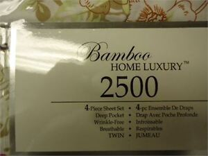 Sheet set 4 pc - Twin Bamboo Home Luxury 2500  count only 20