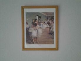 Degas Framed Print - `The Dance Class`