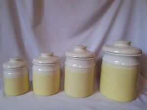 Vintage Made in Canada Northwind Pottery Canisters
