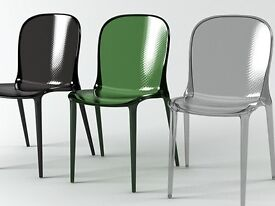 2 Kartell Chairs (Thalya, designed by Patrick Jouin(