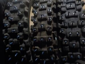 Studded bike tires
