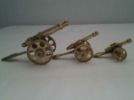 Small Brass Decorative Cannons (3).