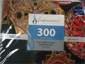 Impressions Duvet Cover Set- King3 pc brand new only 30