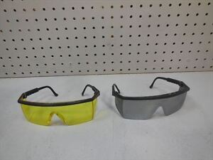 Brand New Sierra Safety glasses, tinted grey& tinted yellow