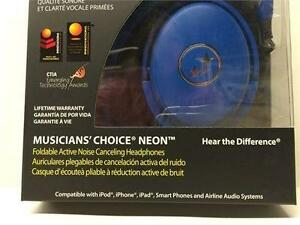 Able Planet Musicians' Choice NC180BRM Around the Ear ANC Headphones (Blue)