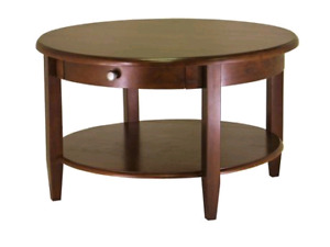 New Winsome Concord Walnut Finish Coffee Table