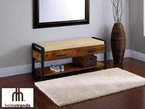 """NEW HOMETRENDS ENTRYWAY BENCH 47 1/4""""W x 15 1/3""""D x 19 1/3""""H HOME FURNITURE Furniture  Living"""