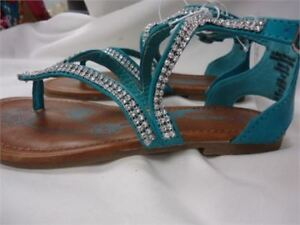 Cherokee Girls Sandals Color: torquoise Fizz size 1 brand new
