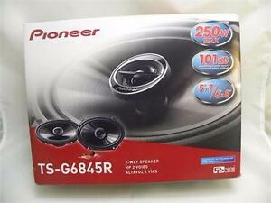New PIONEER TSG6845R 6 X 8-Inch 2-Way 250W Car Speakers
