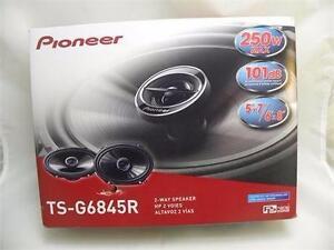 New PIONEER TSG6845R 6 X 8-Inch 2-Way 250W Car Speakers