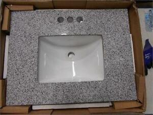 NEW GRANITE VANITY TOP WITH BOWL WITH BACKSPLASH Home Bath Bathroom Sinks