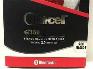 Quikcell S150R Stereo Bluetooth Headset – FIRE RED