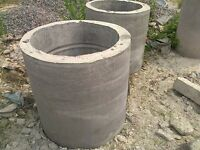 2 x Concrete Well Rings with Cover