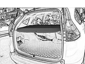 Retractable cargo cover for 2017 Honda CRV (black)
