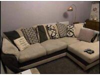 Designer Cord Fabric corner sofa very nice comfy
