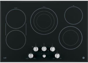 """GE Cafe 30"""" Stainless Steel Built-In Knob Control Electric Cookt"""