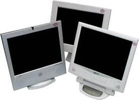 """Various 15"""" Refurbished SVGA Monitors"""