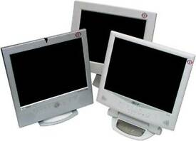 "Various Refurbished 15"" PC Monitors £5 each with 6 Months Warranty"