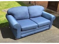 3 Seater Sofa Bed Blue