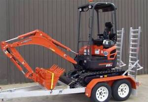 1.7 TONNE ZERO SWING TIGHT ACCESS MINI EXCAVATOR DRY HIRE Belmore Canterbury Area Preview