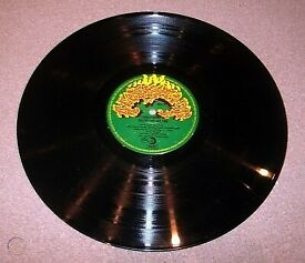 'GLASTONBURY FAYRE' 1972 [One LP Only] VG+, No Sleeve, Pink Fairies, Broughtons, Rarer Pressing