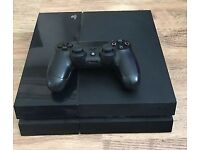 PS4 500GB WITH CONTROLLER AND CABLES