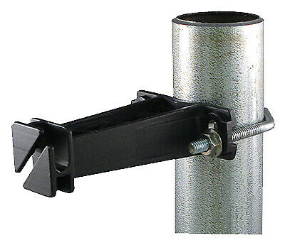 Electric Fence Insulator For Chain-link Post Black 10-pk.