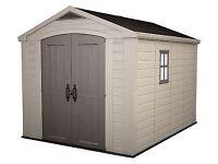 Keter Plastic Garden Shed 8x11 Outdoor Garage Storage RRP £899