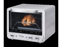 Small over - MOULINEX convection oven rotisserie - UNO XL 33L - silver chrome