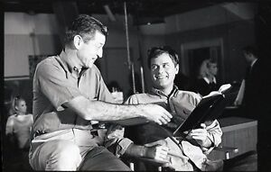 LARRY HAGMAN DIRECTOR ON SET I DREAM OF JEANNIE RARE 1967 NBC TV PHOTO NEGATIVE