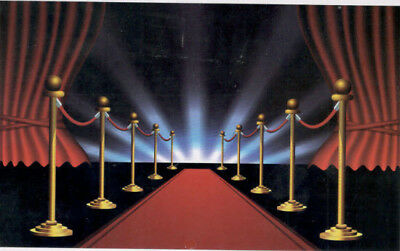 Hollywood Scene Setters (HOLLYWOOD RED CARPET photo backdrop BIRTHDAY party decor Scene Setter)