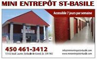 MINI ENTREPÔT À ST-BASILE-LE-GRAND - RIVE-SUD
