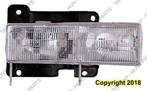 Head Lamp Driver Side Composite 88-02 High Quality Chevrolet S-10 Pickup 1988-2002