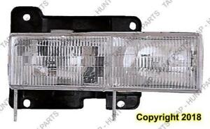 Head Light Driver Side Composite 88-02 High Quality Chevrolet S-10 Pickup 1988-2002
