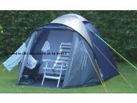 PEAKLAND DENBY 500 TENT 4 MAN USED 1 NIGHT ONLY