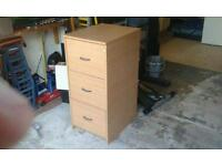 3 draw filing cabinet, with dividers. Excellent Condition. Collection only.