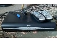 Sky+HD box with two sky remotes