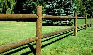 Round Rail Wood Fence 2 And 3 Rail Pressure Treated