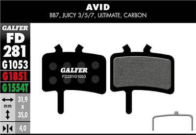 GALFER Bicicleta de Montaña Pastillas Freno para Avid-BB7 Carbono Juicy 3 5...