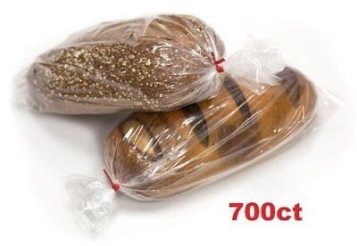 Bread Loaf Bakery Bags Poly Plastic Gusseted Packing Bag Clear - 700 Count