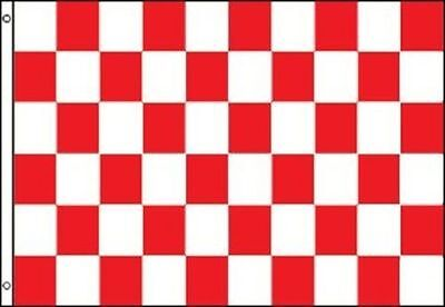Red and White Checkered Flag Advertising Banner Store Sign Party Pennant 3x5
