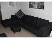 Dwell Extra Large Corner Chaise and Matching Footstool with Free 2 Seater