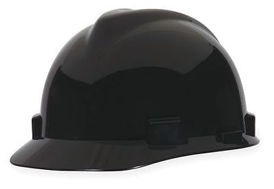 Msa 492559 Black Slotted Fas-trac 4-pt Ratchet Suspension Cap Style Hard Hat