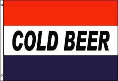 COLD BEER Flag Bar Advertising Banner Party Pennant Store Sign 3x5