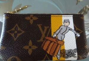 AUTHENTIC RARE LOUIS VUITTON YELLOW GROOM COIN POUCH
