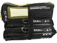 FCS Premium double soft rack surfboards