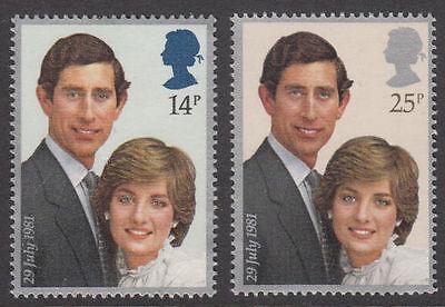 GB MNH STAMP SET 1981 Royal Wedding Stamp Set MNH SG 1160-1161 10% OFF ANY 5+