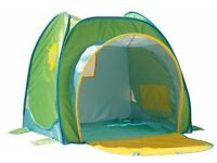 Nursery sun tent UV50+, quick and easy pop up assembly, folds into a carry bag